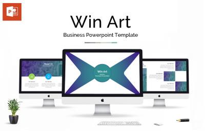 Win Art Business Powerpoint Presentation