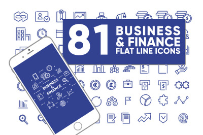 Business and finance line icons