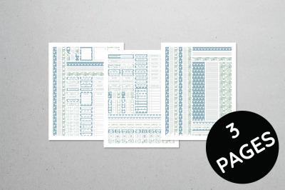 Planner Sticker Set - Winter