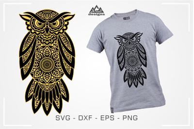 Owl Mandala Zentangle Svg Design