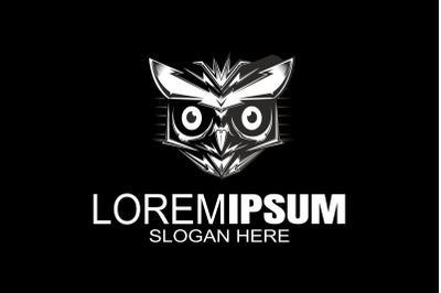 Owl logo design,night hunter logo, bird logo.