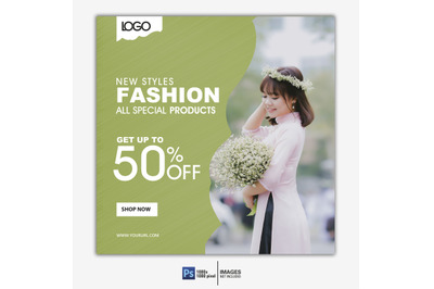 Fashion Sale social media & web  banner