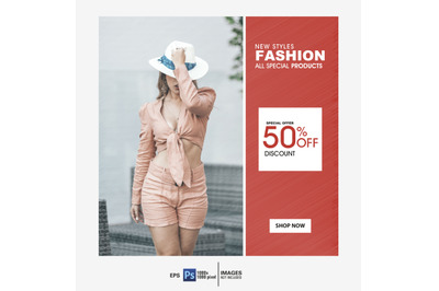 Fashion Sale social media & web  banner template