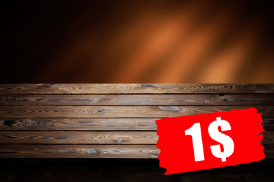 Dark wooden background, table for product, old wooden perspective inte