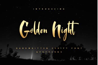 Golden Night script font & Gold foil Ps Styles