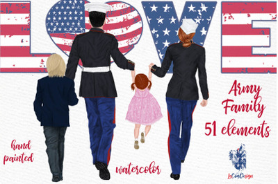 Army Family Clipart Military Couples Navy Soldiers Parents