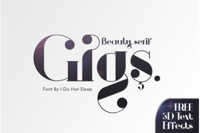 Gigs Beauty Serif Font