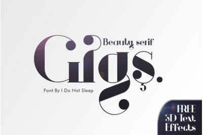 Gigs Beauty Serif Font