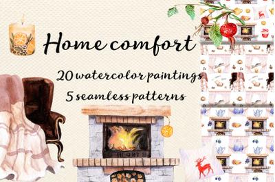 Watercolor  Home comfort