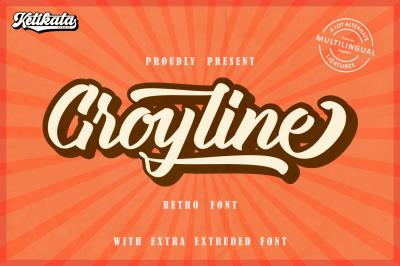 Groyline Retro font