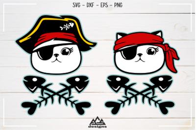Cute Pirate Cat Kitten Svg Design
