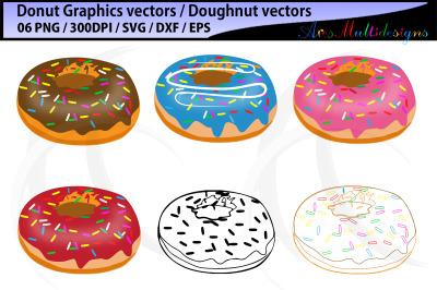 Donut SVG / Doughnut SVG / Donut Cut File / Sprinkle Donut SVG