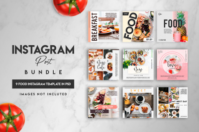 Social media Instagram posts bundle