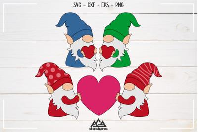 Gnome Valentine Heart Love Svg Design