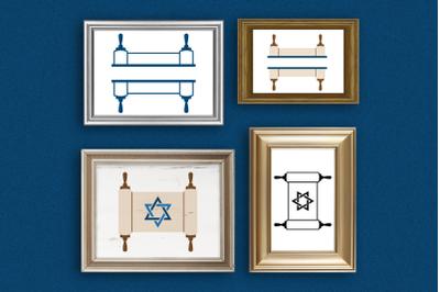 Torah Duo | SVG | PNG | DXF