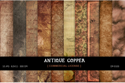 Copper Antique Papers