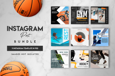 9 instagram sports post template