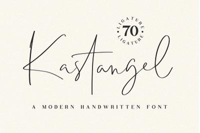 Kastangel - signature font