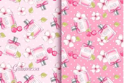 Pink perfume patterns