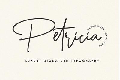 Petricia - Handwritten Script Font
