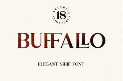 Buffallo - Serif Font