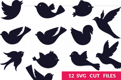 Bird Silhouettes SVG Pack