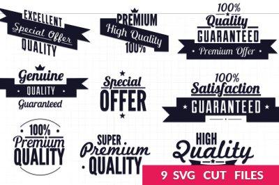 Retro Typography SVG Pack