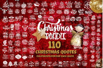 Christmas bundle Set of 110 SVG quotes