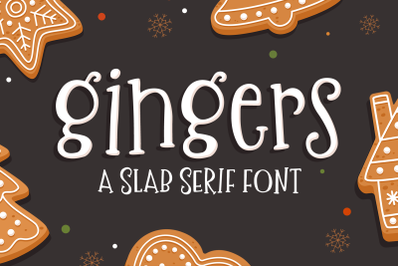 Gingers Slab Serif Font