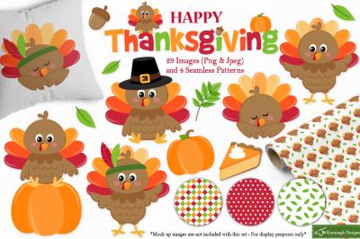 Thanksgiving clipart, thanksgiving graphics & illustrations -C41