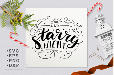 One starry night SVG