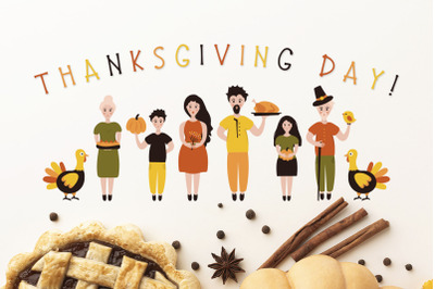 Thanksgiving Font and Graphics Pack