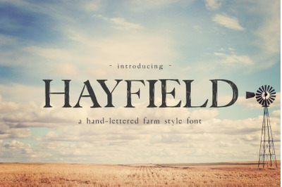 Hayfield Hand Lettered Serif Font