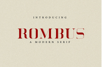 Rombus - Modern Serif Font