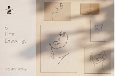 One Line Face Drawings