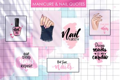 Manicure, hands, nails.