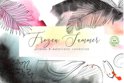 Frozen Summer - Strokes & Watercolor