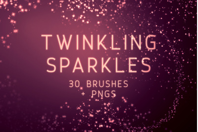 Twinkling Sparkles Photoshop Brushes and PNGs