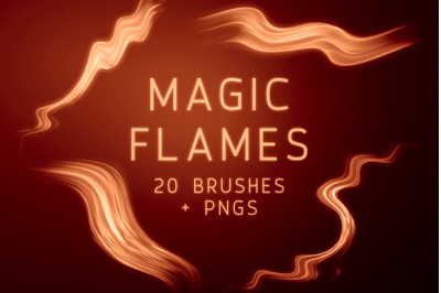 Magic Flames Photoshop Brushes and PNGs