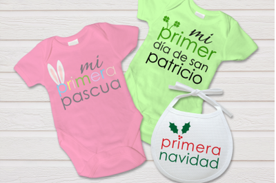 Spanish Baby Firsts Primeros de Bebe | SVG | PNG | DXF