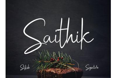 Saithik Stylish Signature