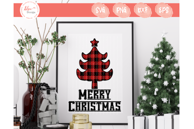 Buffalo Plaid Christmas Tree SVG