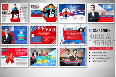 10 Election Voting Horizontal Flyers Bundle
