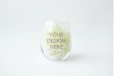 Wine Glass Mockup / Stemless Wine Glass Mockup