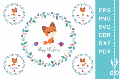 Cute Fox. Cutting and printable files set