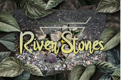 River Stones Textures, Nature rock scrapbook