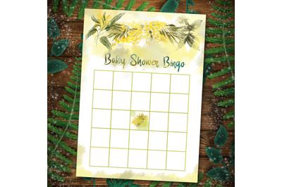 Floral Baby Shower Games Printable Baby Bingo