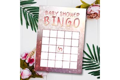 ROSE Babyshower Bingo Cards