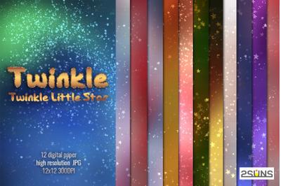 Twinkle Twinkle Little Star Digital paper christmas