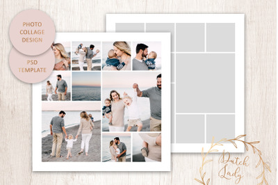 PSD Photo & Image Collage Template #2